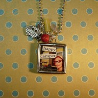 Happy Camper Necklace by KitschandKaboodle on Etsy