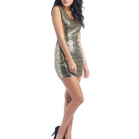 Golden Glam Party Dress | Wet Seal