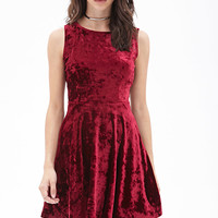 Velveteen Fit & Flare Dress