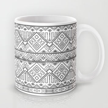 Black Aztec Pattern Mug by Kate