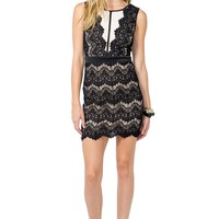 Sheer Illusion Lace Dress
