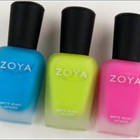 Zoya Mod Mattes Swatches, Reviews, Photos
