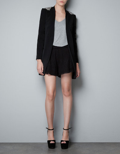 BLAZER WITH SPIKES ON THE SHOULDER - Blazers - Woman - New collection - ZARA United States