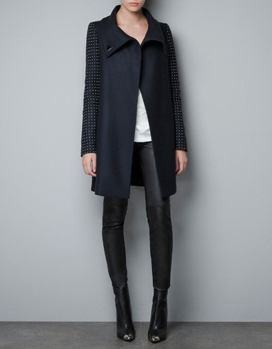 COAT WITH APPLIQUÉS ON THE SLEEVE - Blazers - Woman - New collection - ZARA United States
