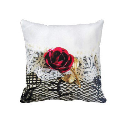 Rose, lace and fishnet stocking throw pillows from Zazzle.com