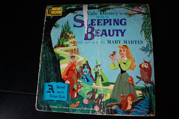 Disney 1958 Vintage Sleeping Beauty vinyl record