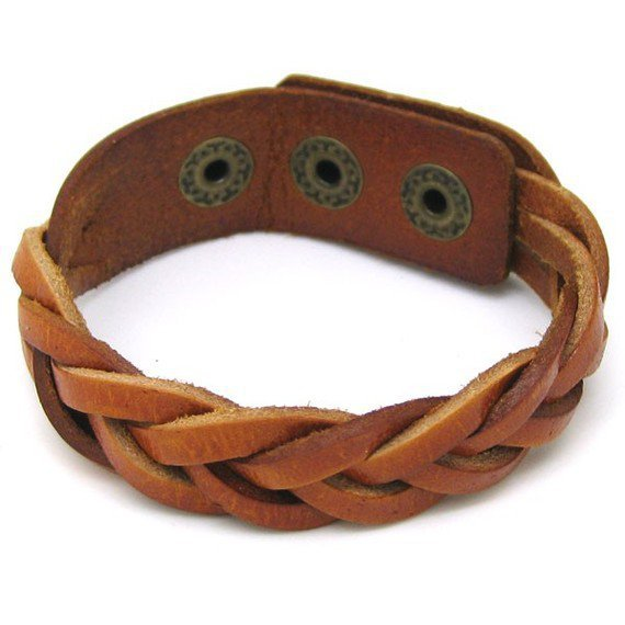jewelry bangle leather bracelet buckle bracelet woven bracelet women bracelet men bracelet with brown leather woven 1SZ-LH-BR