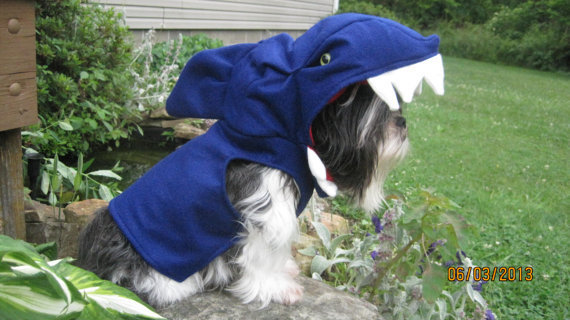 Shark Dog Halloween Costume Size Medium/Large