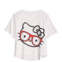 Hello Kitty Glasses Burnout Tee