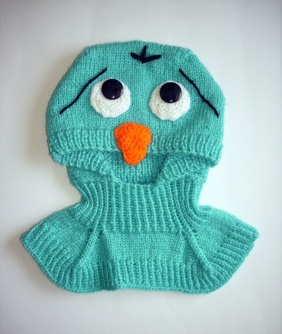 confused birds, blue overalls hat , 9 - 18  Months