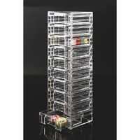 "Acrylic Drawer Tower Organizer (Clear) (17 5/8""H x 5 3/8""W x 4 7/8""D): Home & Garden"