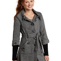 Amazon.com: Jolt Juniors Ribbed Sleeve Coat: Clothing