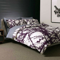 unison, unison bedding, unison quilt, larch bedding, larch quilt, purple quilt, organic bedding - Relish Design