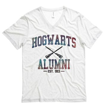Hogwarts Alumni Galaxy Mens V Neck