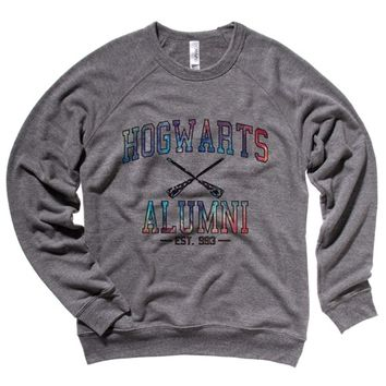Hogwarts Alumni Galaxy Mens Sweatshirt - Grey Triblend