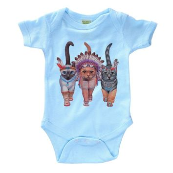 Festive Costume Indian Cats Infant Onesuit