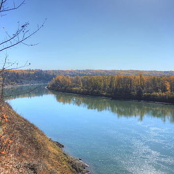 North Saskatchewan River - Autumn Photograph by Jim Sauchyn - North Saskatchewan River - Autumn Fine Art Prints and Posters for Sale