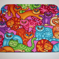 Mouse Pad mousepad / Mat - Rectangle - Sew Catty Pink