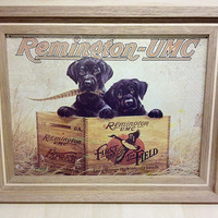 Handcrafted Mahogany Wood Picture Frame with lab puppy picture