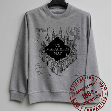 Marauder's Map Shirt Harry Potter Sweatshirt Sweater Hoodie Shirt – Size XS S M L XL