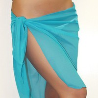 Sarong Aqua Mesh Short Swimsuit Wrap - Chynna Dolls