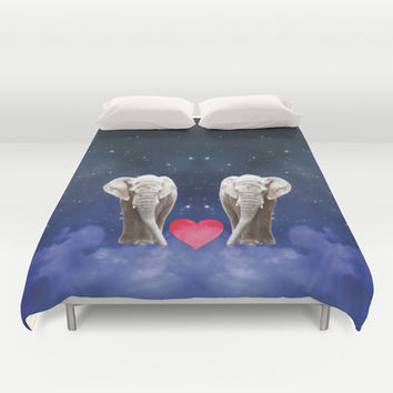 Elephant Love Duvet Cover by NisseDesigns