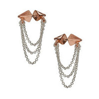 Double Stud Drape Earrings - Jewelry  - Accessories
