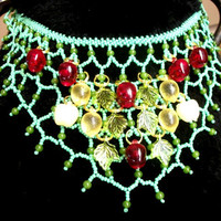 Bib Necklaces - Beaded Bib Necklace - Necklaces for Women