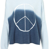 Dip Dye Peace Sign Sweat