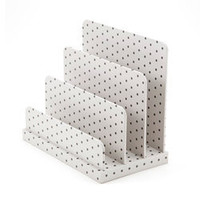 See Jane Work Paperboard Letter Sorter, Black/Dots - See Jane Work