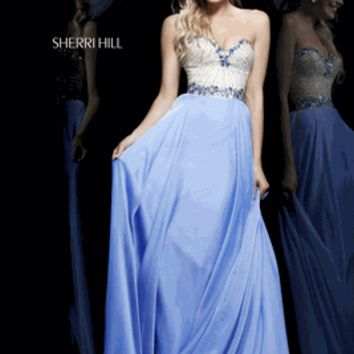 Sherri Hill Style 1923 Size 4 Periwinkle
