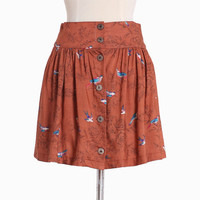 byron bay bird print skirt - $27.99 : ShopRuche.com, Vintage Inspired Clothing, Affordable Clothes, Eco friendly Fashion