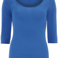 Cobalt 3/4 Scoop Basic Jersey Top