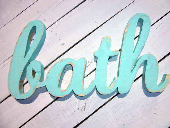 Wood Words - BATH