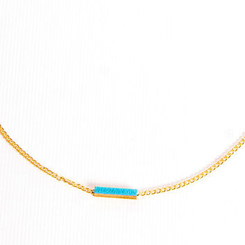 Katie Lees Linear Necklace in Blue