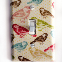Multi Color Birds Single Toggle Switchplate Switch Plate