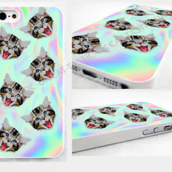 Because Cats,IPHONE 4/4S/5/5s 5c,6,6 plus HARD CASE COVER Art,cute,emoji,tie dye