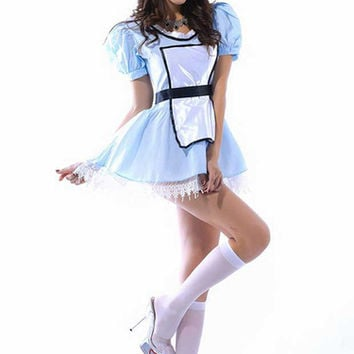 Frech Maid Costume Sweet Lady Servant Costume Sky