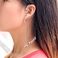 Double-Faced Skull Ear Cuff