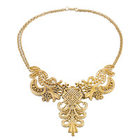 PINEAPPLE - Gold statement necklace