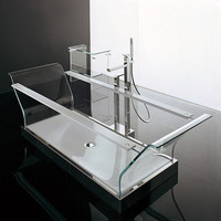 Ultra Modern Bathtub from Novellini - new Cristalli glass tub | Trendir