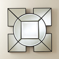 Arabesque Square Mirror - Black