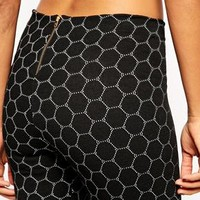 ASOS Tregging With Honeycomb Pattern