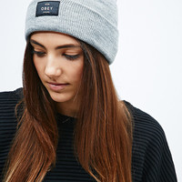 Obey Vernon Beanie in Grey - Urban Outfitters
