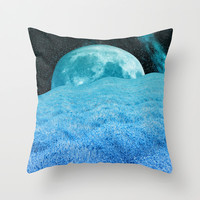 BLUE LAVENDER MOON Throw Pillow by Catspaws | Society6