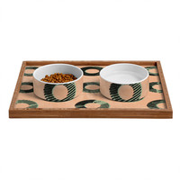 Nick Nelson Frayed Pet Bowl and Tray