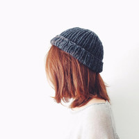 #Sailorbeanie, Knit Wool Hat, Winter Knitweare, Christmas Gift