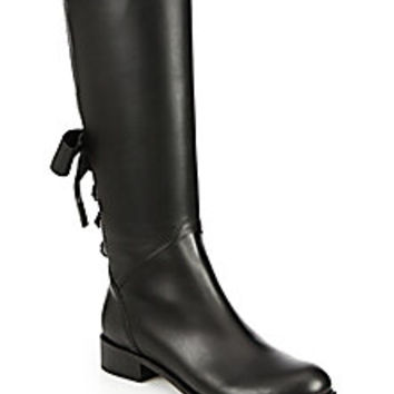 Valentino - Ascot Leather Knee-High Boots - Saks Fifth Avenue Mobile