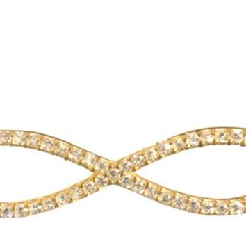 SKU Jewelry CZ Gold Plated INFINITY Necklace
