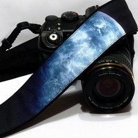Galaxy Camera Strap, Cosmos Camera Strap, Space Camera Strap, Black Blue Camera Strap, Nikon, Canon Camera Strap, Women Accessories